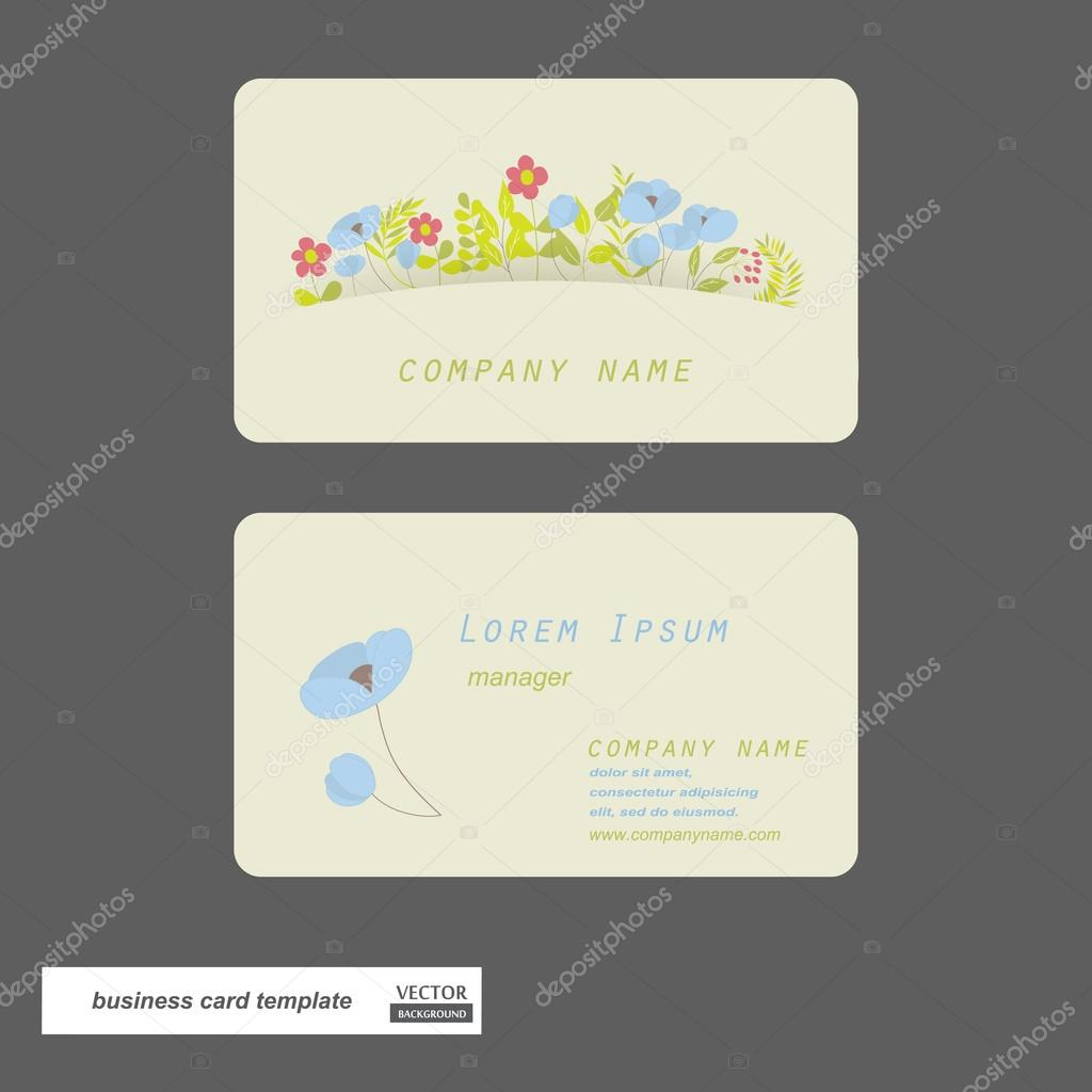 Flower business cards. — Stock Photo © Liddiebug #43811823