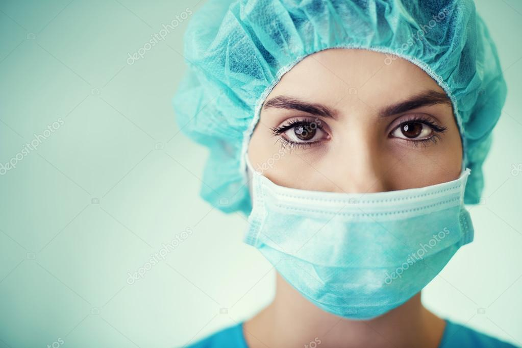 Portrait of young surgeon