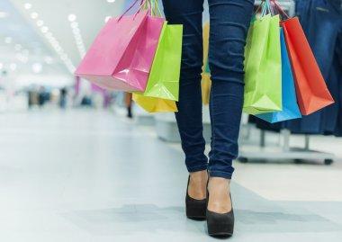 çekici bir kadın alışveriş