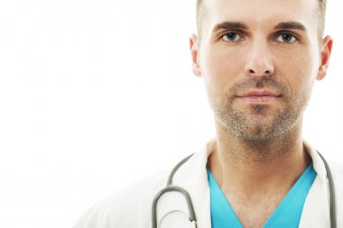 Handsome male doctor