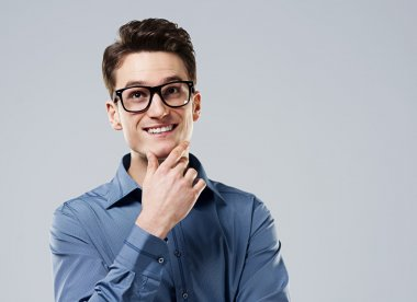 Smart man with glasses