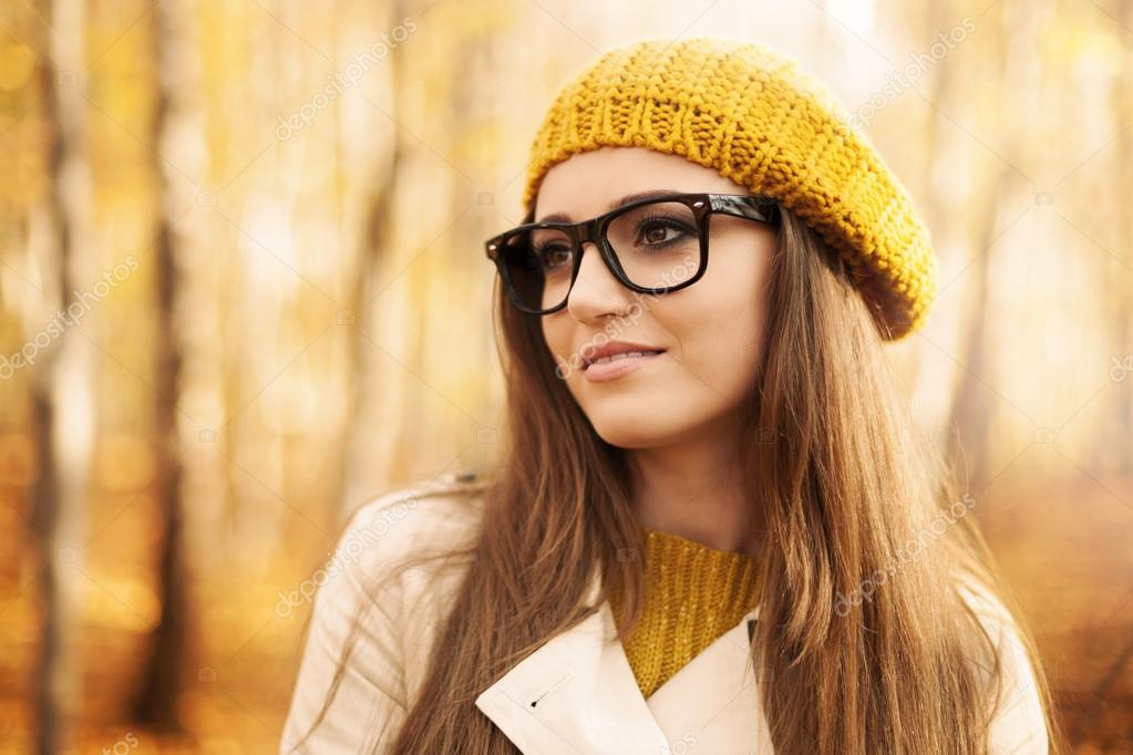 Beautiful woman wearing fashion glasses