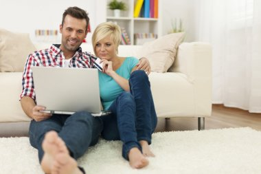 Couple doing shopping online
