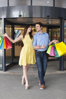 Couple after  shopping
