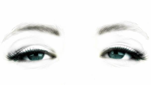 velké oko ženy