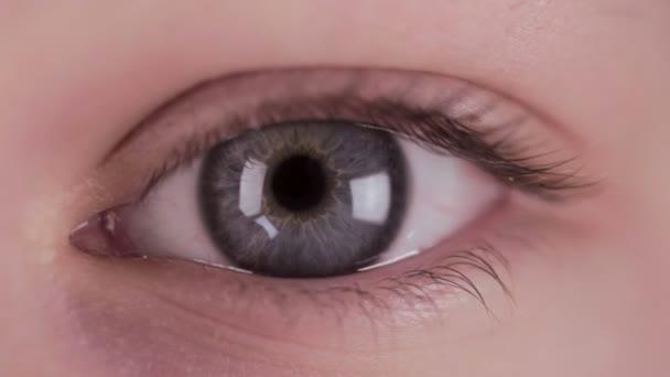 Love heart in human eye