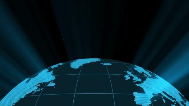 3D earth v světelných paprsků