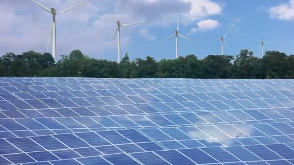 obnovitelné zdroje energie. timelapse