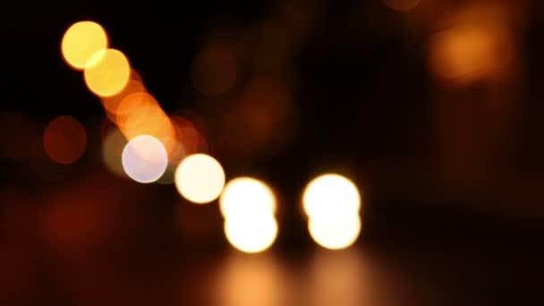 noční provoz. rozostření světla. bezproblémové smyčkou