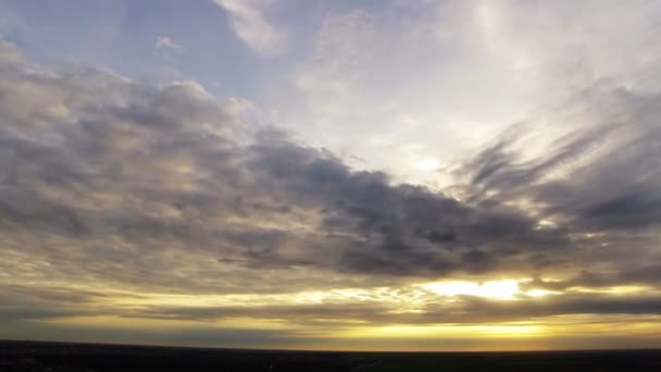 Sunset in the Clouds. Timelapse
