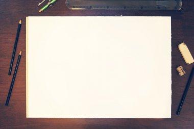 Pencil drawing mock-up