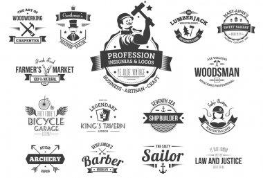 Retro profession badges