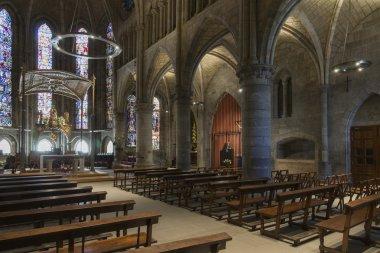 Royal Collegiate of Santa Maria Church, Roncesvalles. Spain.
