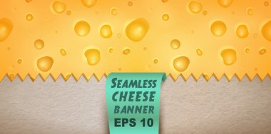 Cheese in paper bag banner