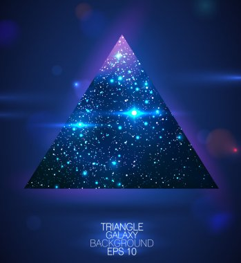 Cosmic triangle shape background