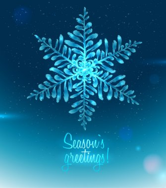 Ice Seasons greetings card