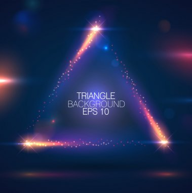 Triangle shape background