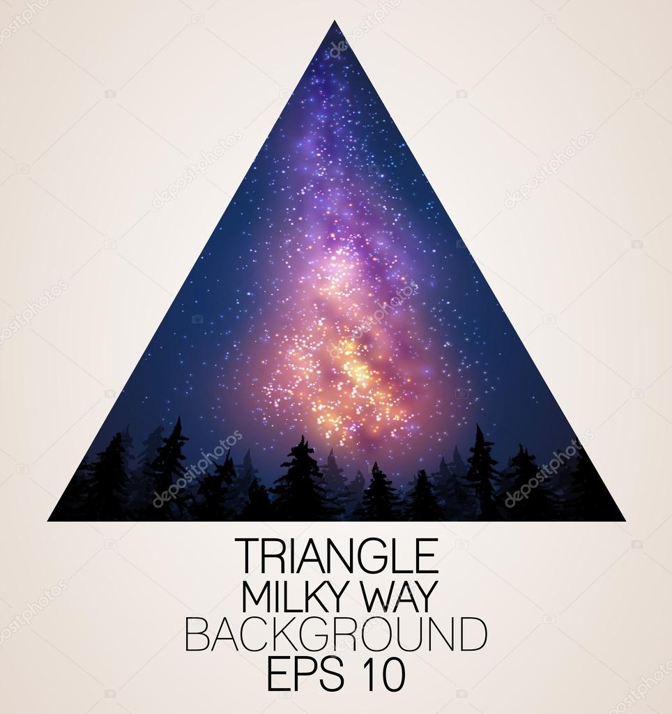 Milky Way triangle background
