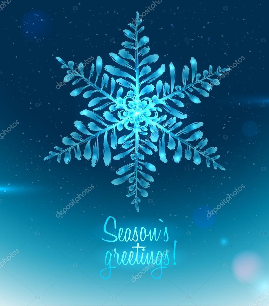 Ice Seasons greetings card