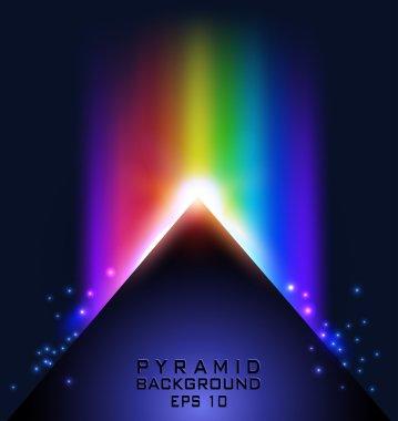Pyramid on dark background