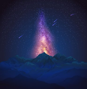 Milky Way in the mountains