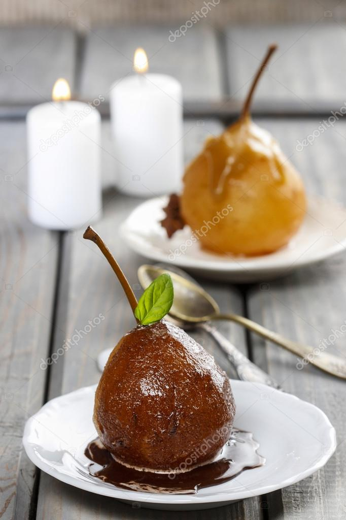 efterrätt päron choklad