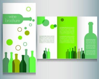 wine brochure design template
