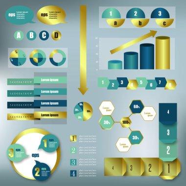 Infographic vector folder.
