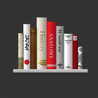 Bookshelf, vector illustration.