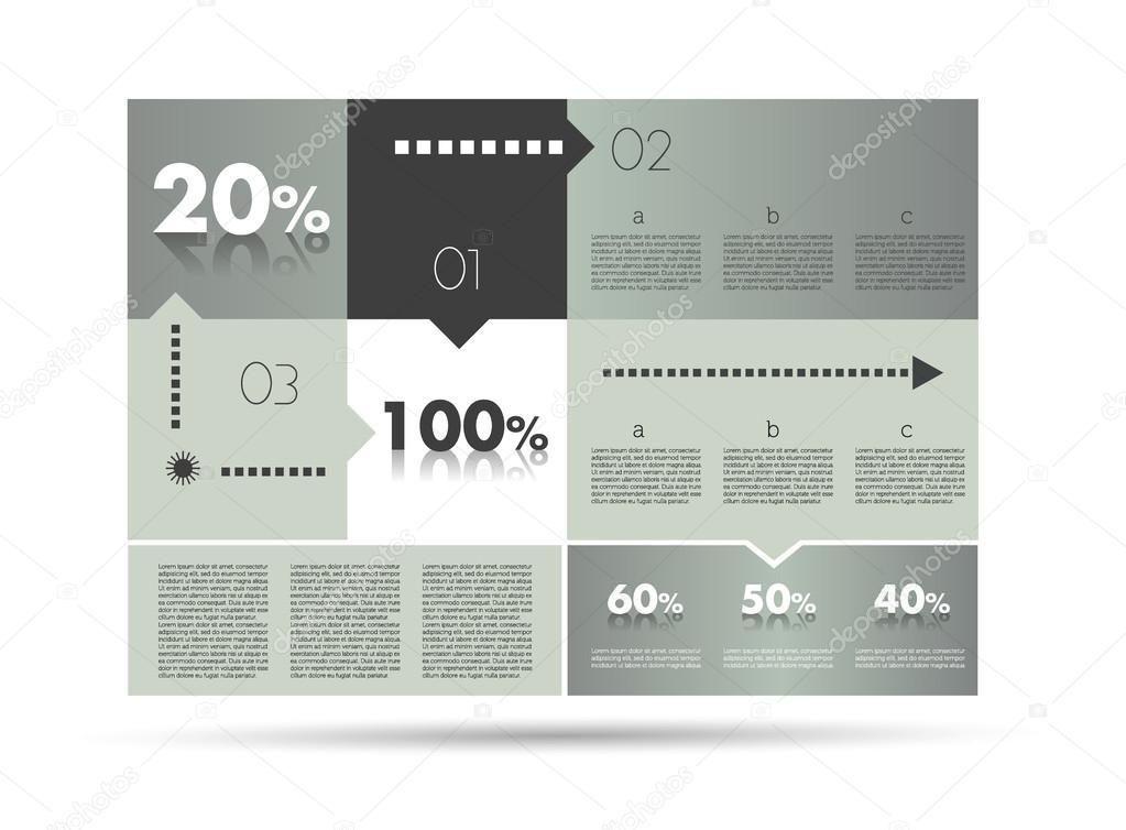im Feld Diagramm, Vorlage. Infografiken-Modul-System — Stockvektor ...