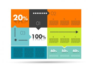 Diagram for infographics. Example of speech chart. Web banner template.