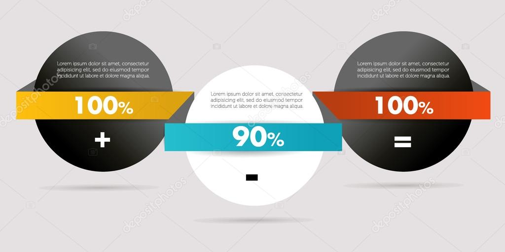 Simple diagram for infographics. Modern design template ...