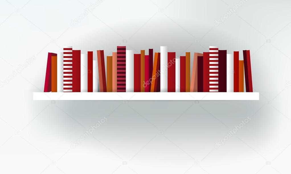 boek plank interieur. moderne meubeldesign geïsoleerd op wit ...