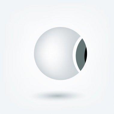 Eyeball 3 D icon. Vector sign medical shape. stock vector