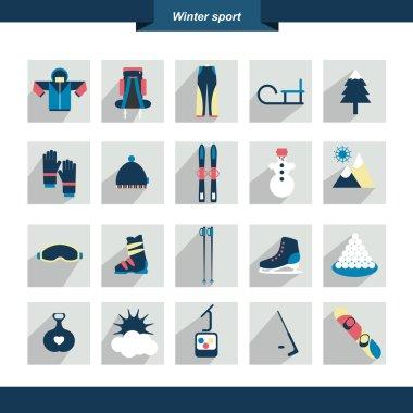 Winter sport icon. Vector illustration.