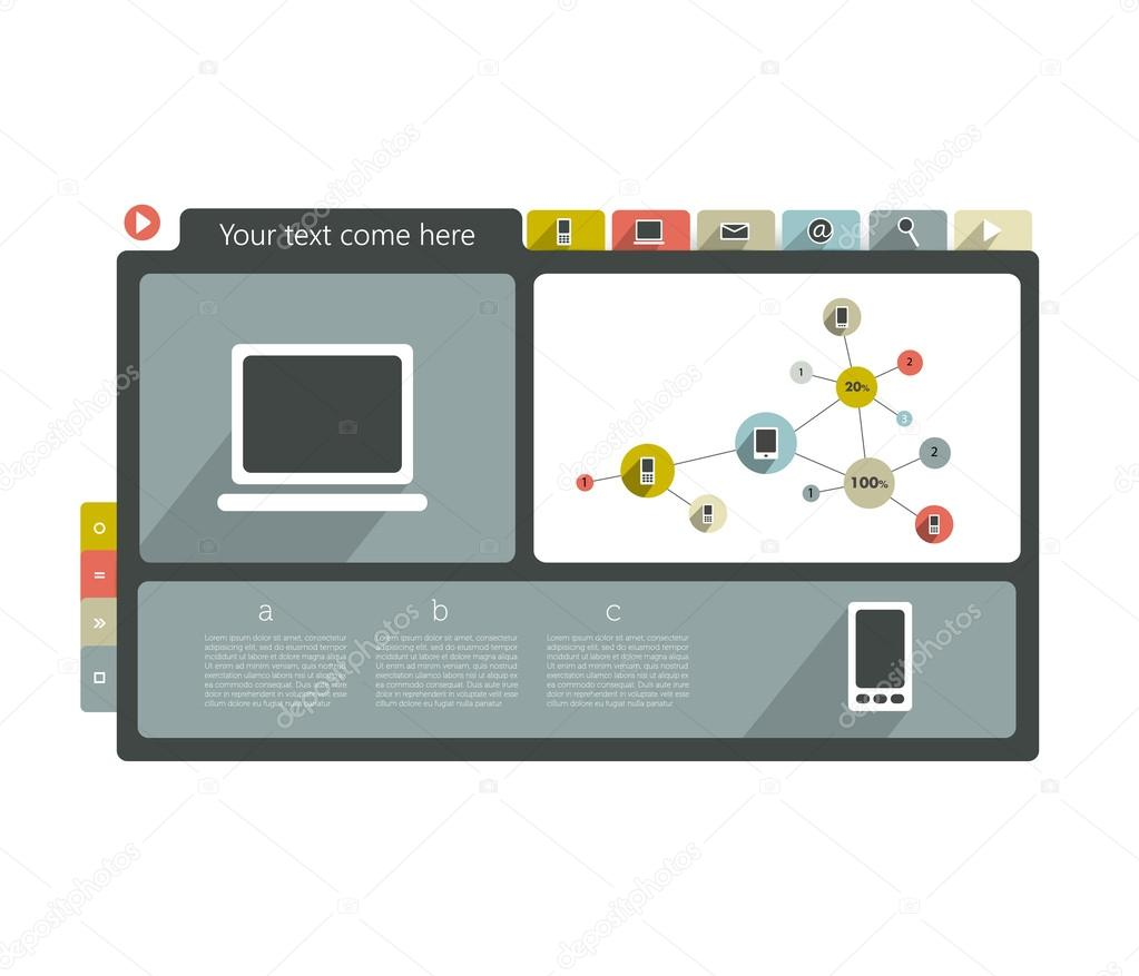 moderne Website Vorlage. bunte minimalistischer Option Banner ...