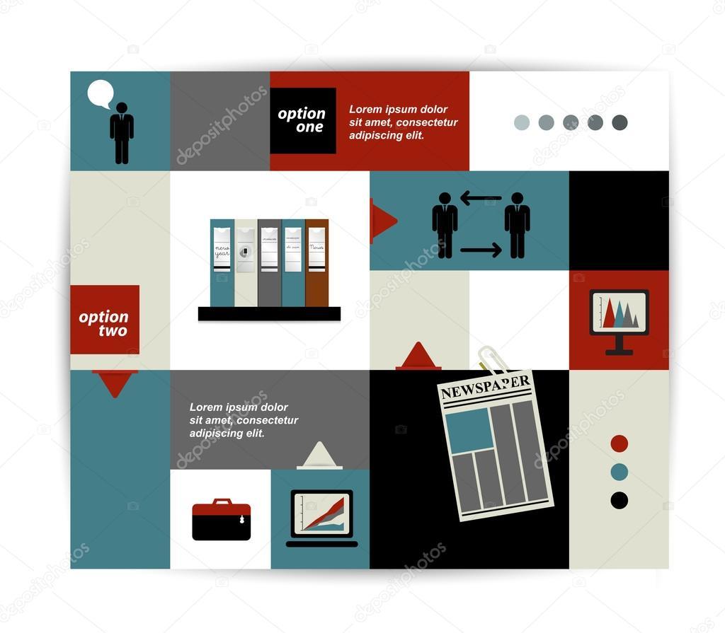 moderne original Homepagevorlage. bunte minimalistischer Option ...
