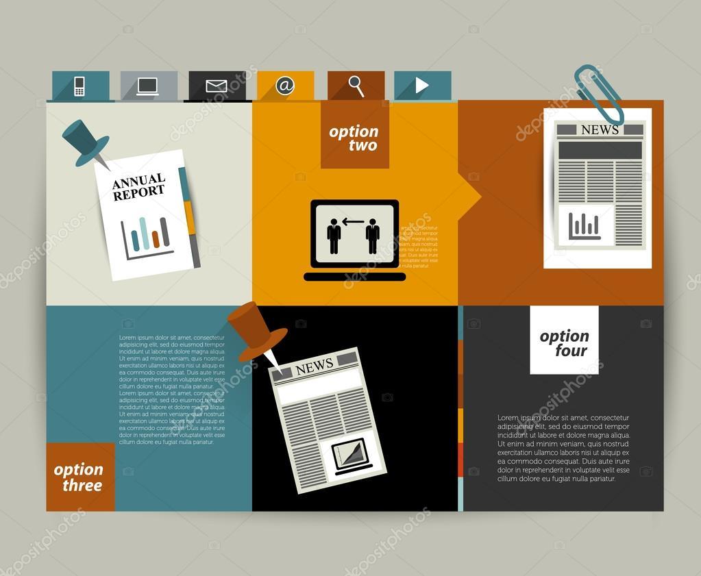 Mod le de site web original moderne banni re color e for Idee de site web original