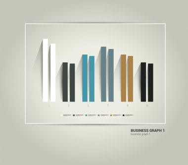 Exclusive business chart. Trend minimalistic flat graph can be used for infographic, brochure concept, catalog, web page, annual report. Vector scheme.