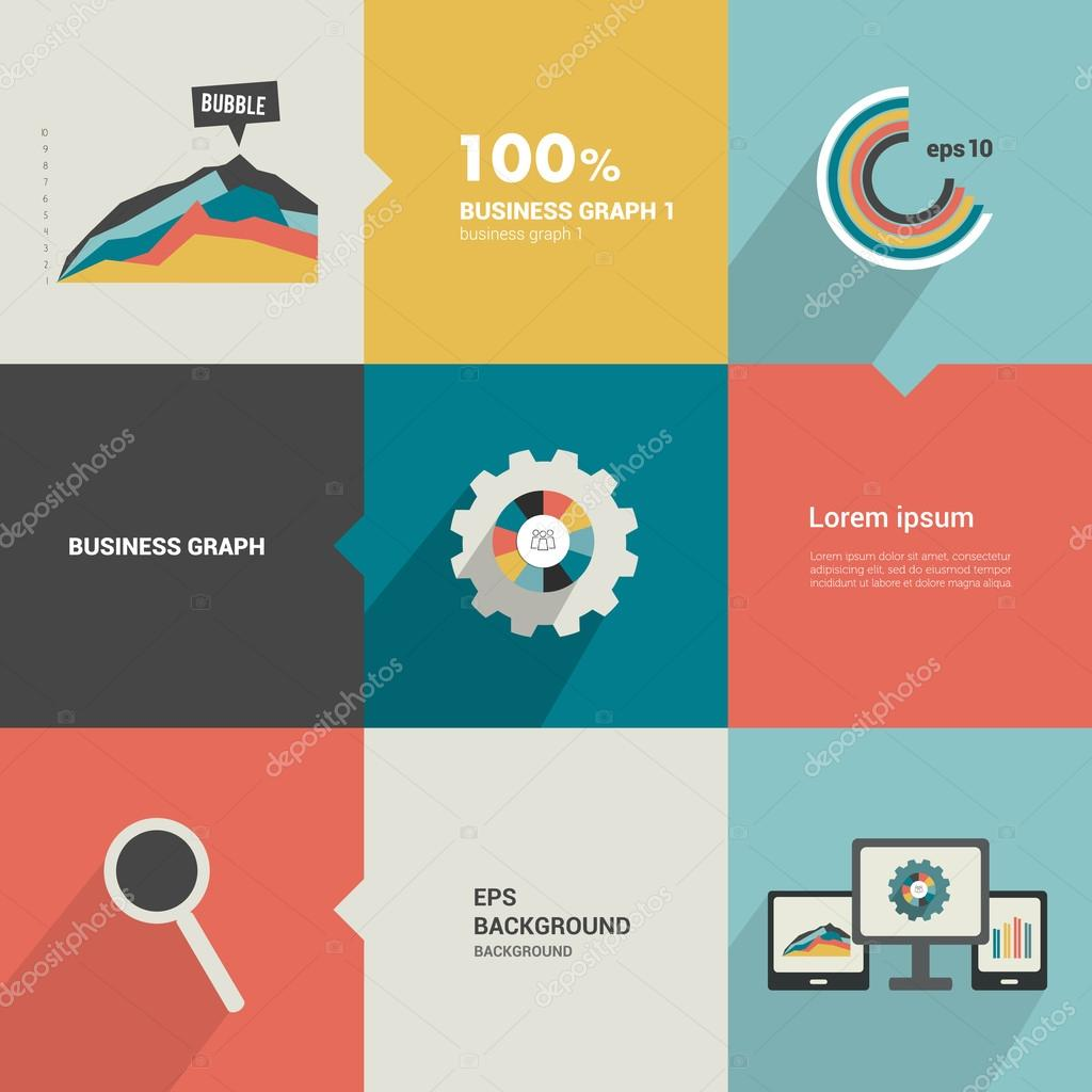 Minimalistic flat tab, diagram, scheme for infographics. Can be used ...