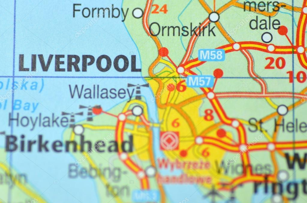 Liverpool in England on the map – Stock Editorial Photo © DarioSz ...