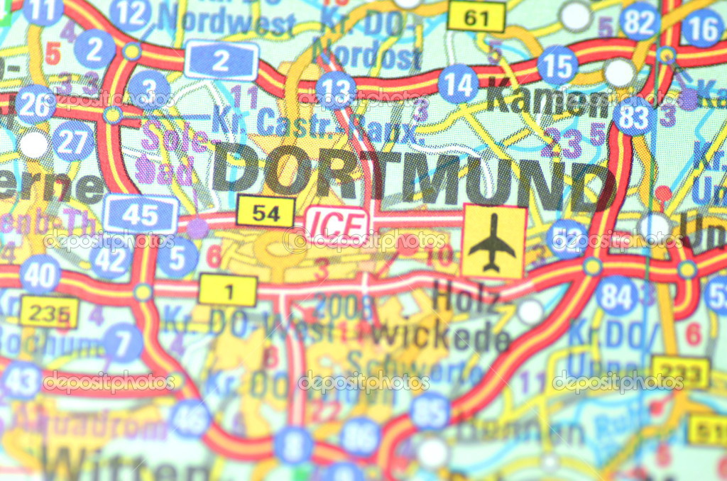 Dortmund On Map Of Germany.Dortmund In Germany On The Map Stock Editorial Photo C Dariosz