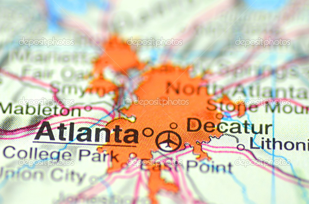 Atlanta Georgia In The Usa On The Map Photo By Dariosz