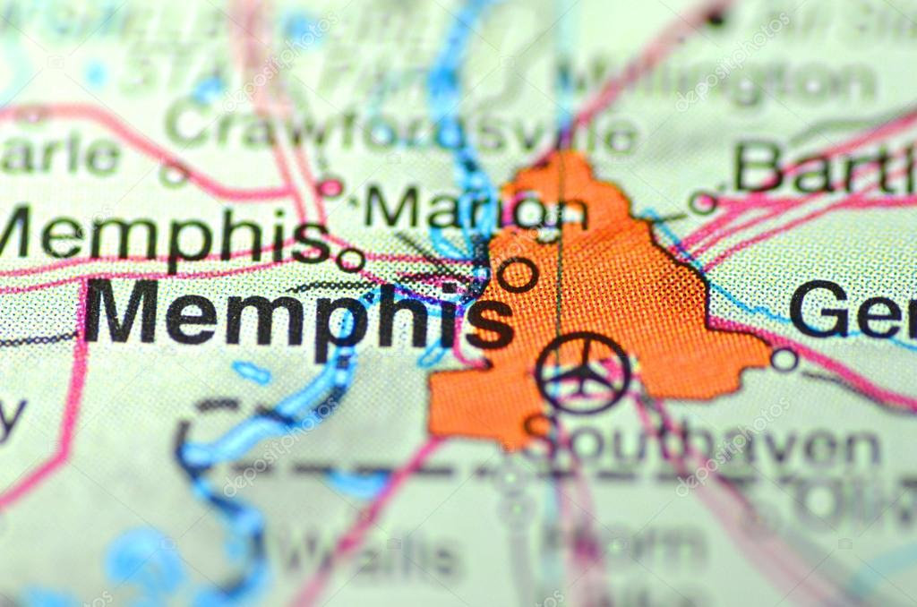 Memphis Tennessee In The Usa On The Map Stock Editorial Photo