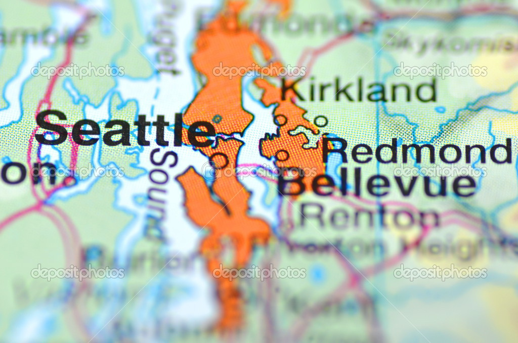 Seattle , Washington in the USA on the map – Stock Editorial ... on map of japan tokyo, map of spain malaga, weather map seattle, map of thailand bangkok, map of japan osaka, map of washington seattle, map of canada vancouver, map of income for seattle, map of south seattle, map of lithuania vilnius, us map seattle, street map seattle,