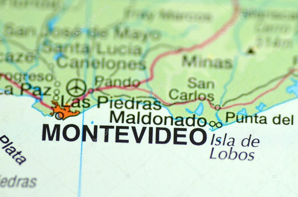 Carte Amerique Latine Uruguay.Un Gros Plan De Montevideo En Uruguay Amerique Du Sud Sur Une Carte