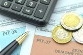 Fotografie closeup polské daňové formuláře