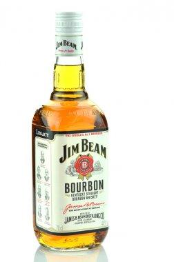Jim Beam bourbon whiskey isolated on white background