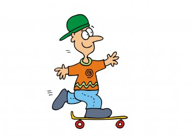 Young Boy Skateboarder