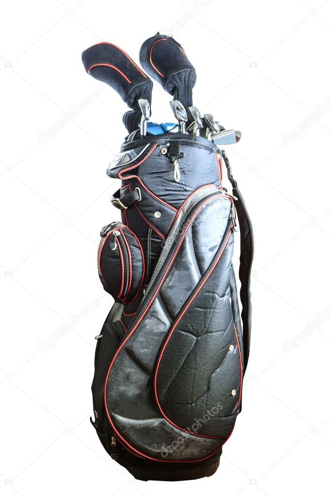 antigua bolsa de palos de golf bicolor — Foto de stock © Bunwit ...